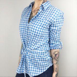 Joe Fresh Tie Waist Gingham Shirt